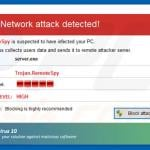 Antivirus 10 displaying fake error pop-ups (sample 1)