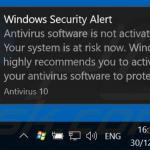 Antivirus 10 displaying fake error pop-ups (sample 3)