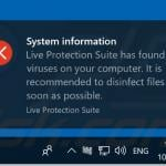 live protection suite notification