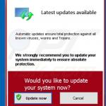 live protection suite notifies about updates
