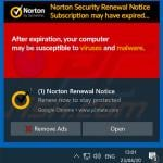 Norton Subscription Has Expired Today pop-up scam promoted via browser notifications (sample 3)