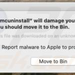 amcuninstall Will Damage Your Computer. You Should Move It To The Trash.