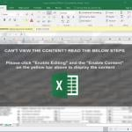 Excel file designed to inject Zloader malware into the system (2020-09-30)