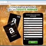 congratulations you are todays winner scam amazon gift card