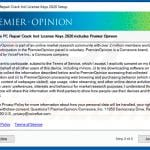Rogue installation setup used to promote Premier Opinion