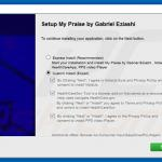 Delusive software installer distributing Note-up adware