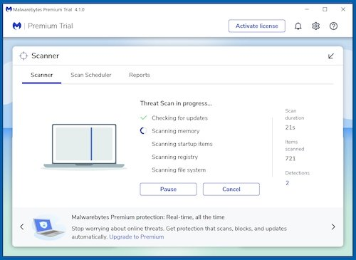 Scan your computer with Malwarebytes