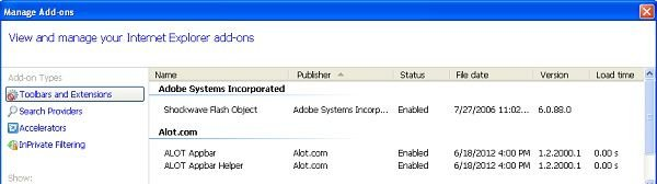 alot toolbar internet explorer