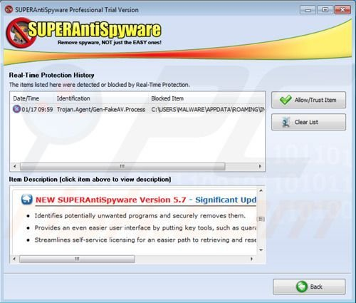Superantispyware real time protection