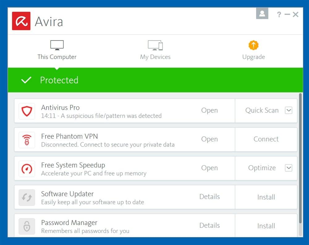 Avira Antivirus PRO 2018 Crack + Serial Key Free Download
