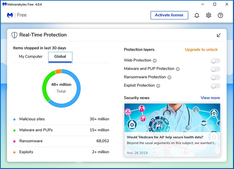 Malwarebytes 4.0 Real-Time Protection