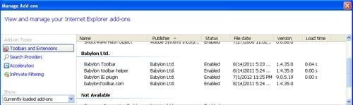babylon toolbar internet explorer