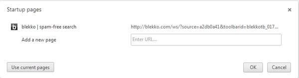 blekko homepage Google Chrome