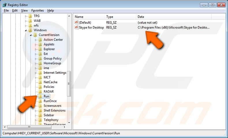 How to remove startup programs shown in 'msconfig'