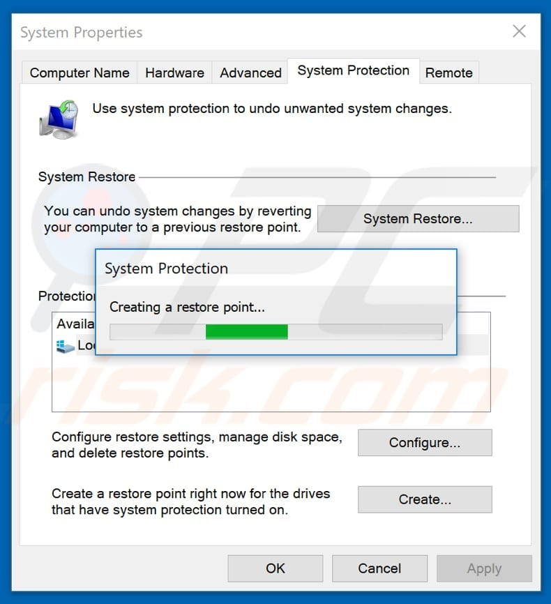 how to restore windows back to start