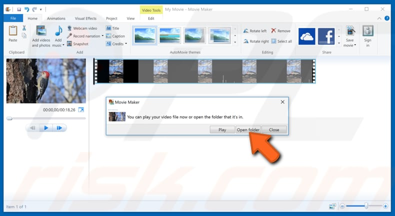 How to rotate a video in windows rotate video with windows movie maker step 7 ccuart Images