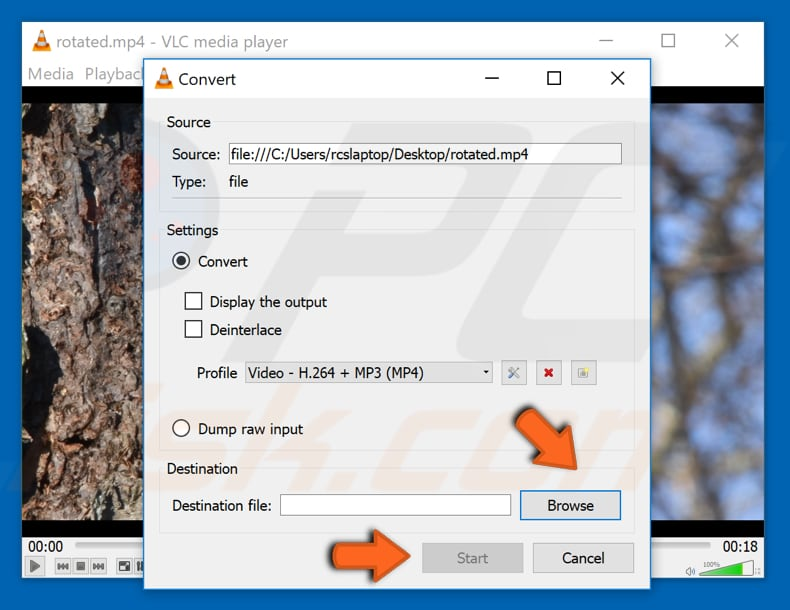 How to rotate a video in windows rotate video with vlc media player step 10 ccuart Image collections