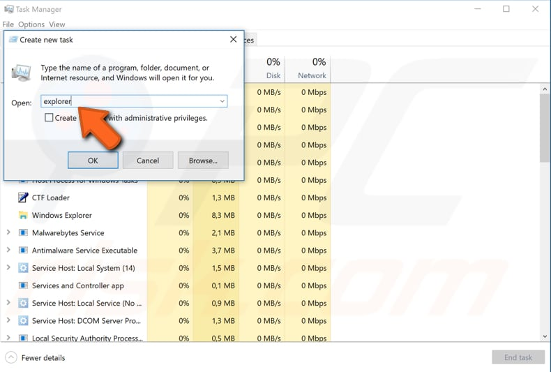 how to open process explorer windows 10