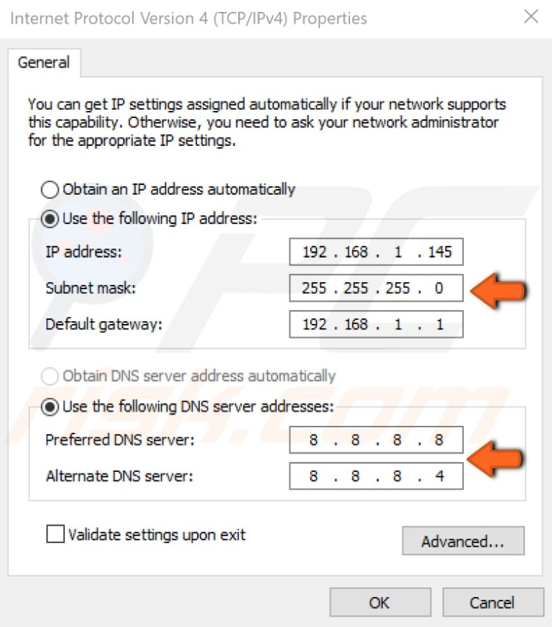 configure tcp ip settings manually step 5
