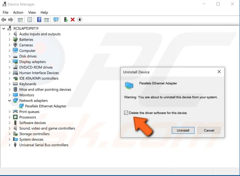 reinstall or update network adapter driver step 3