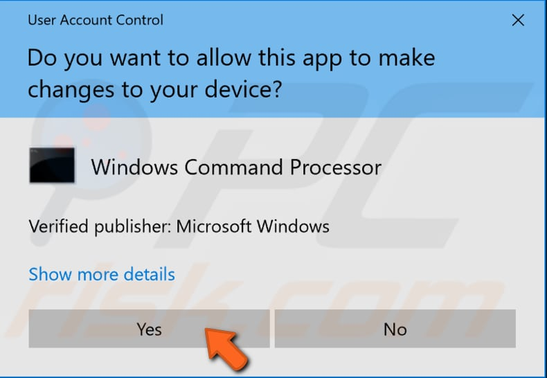 uninstall the application using registry editor and command prompt step 6