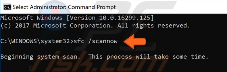 run the sfc scan step 2