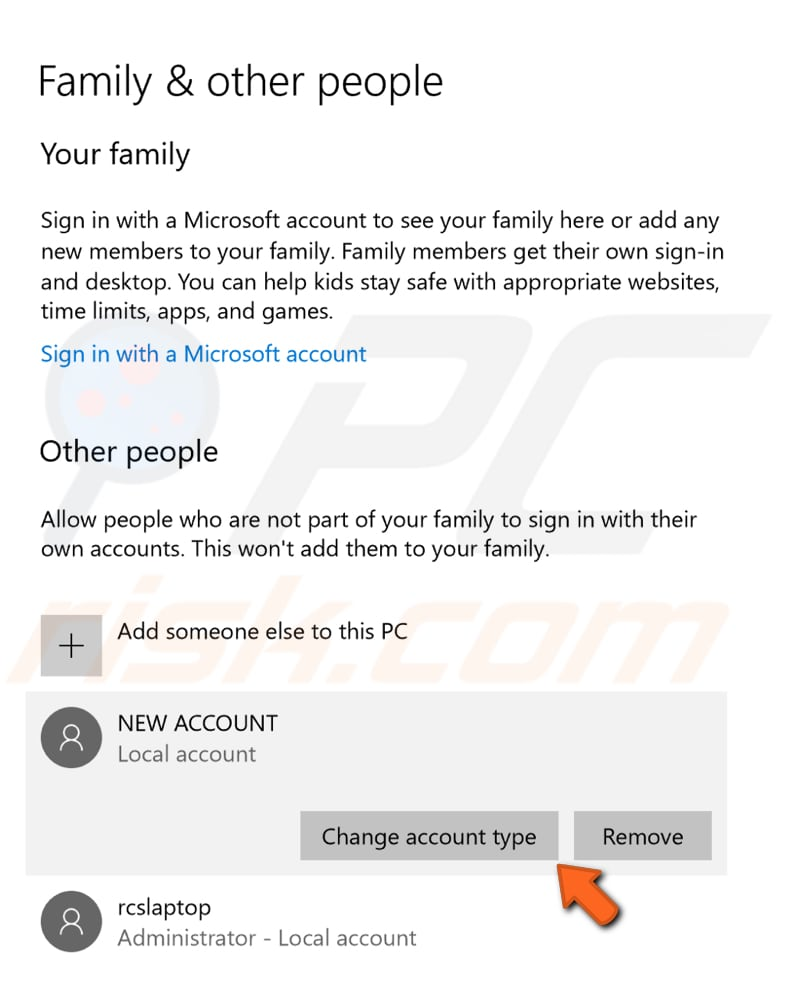 create new account step 6