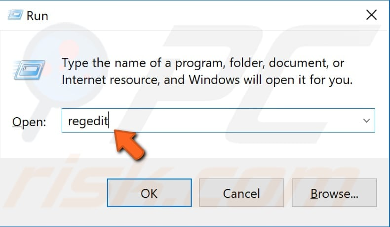 edit windows registry step 1