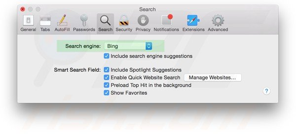 how to make safari default