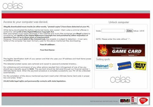 celas ransomware ultimate game card