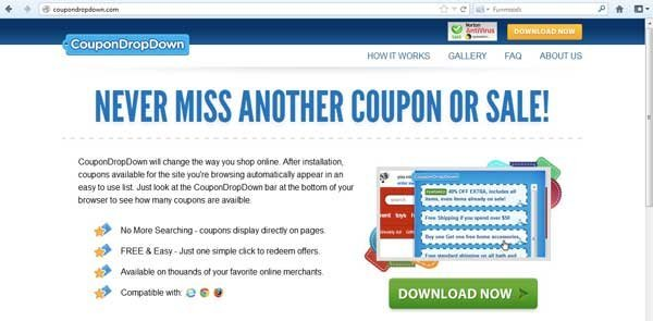 Link coupondropdown