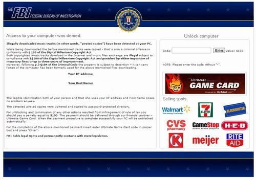 fbi ransomware ultimate game card