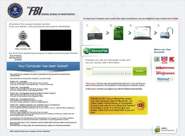 How to remove FBI Virus - Your Computer Has Been Locked