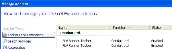flv runner toolbar internet explorer