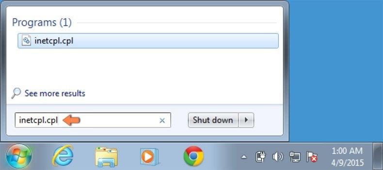 default  folder internet explorer xp