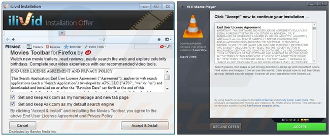 Free software download managers distributing browser hijackers