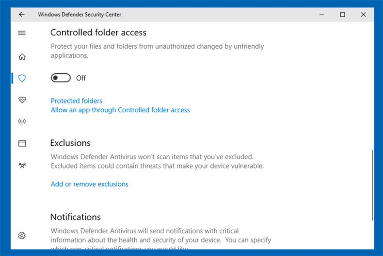 Controll Folder Access