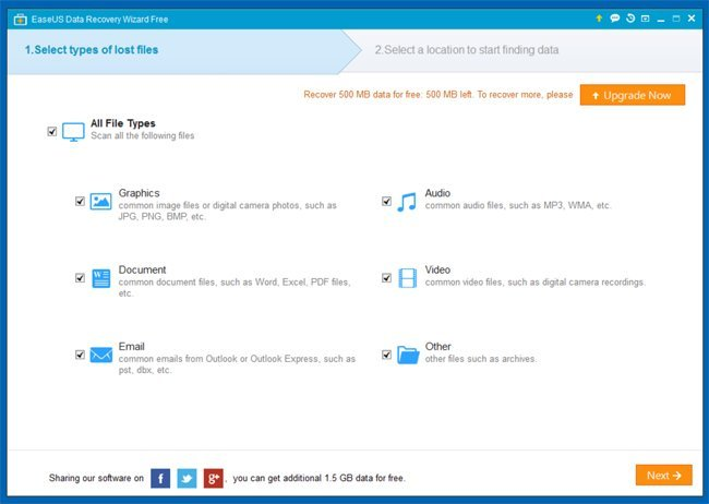 file recovery software - easeus data recovery wizard