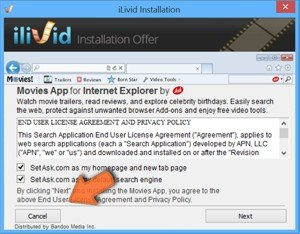 declining installation of browser hijackers while downloading free software sample 2