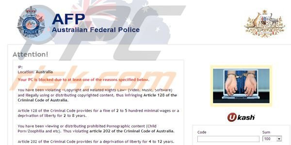 AFP Australian Federal Police ransomware virus