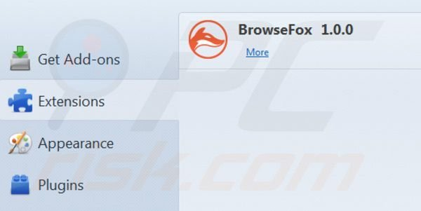 Browsefox removal from Mozilla Firefox