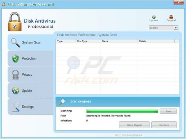 Disk Antivirus Professional color change after registration