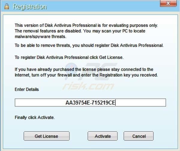 Disk Antivirus Professional registry key