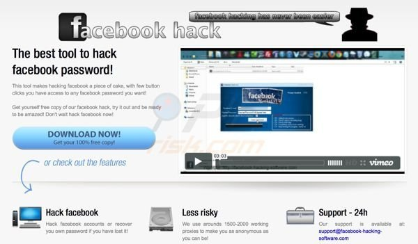 Facebook password hack scam