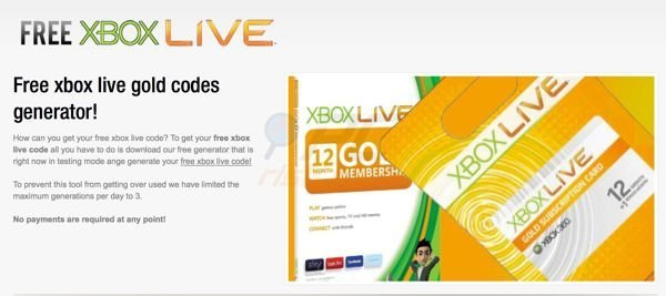 Free xbox live gold codes generator scam