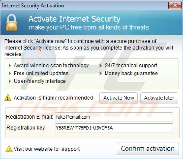 Internet Security 2014 activation key
