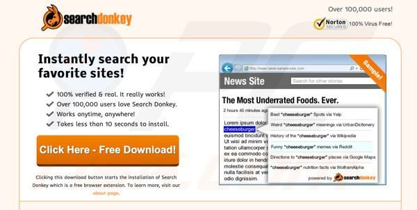 Search Donkey Adware