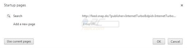 Search.snap.do startup page in Google Chrome