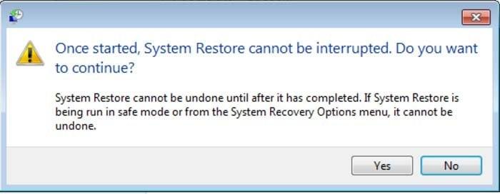 run system restore