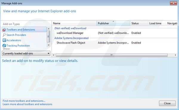 Wedownload Manager removal from Internet Explorer